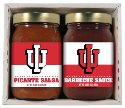 2 Pack INDIANA Hoosiers Double Play BBQ Salsa ()