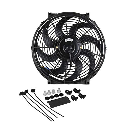 LouiseEvel215 1Pc 12V Engine Cooling Fan 14