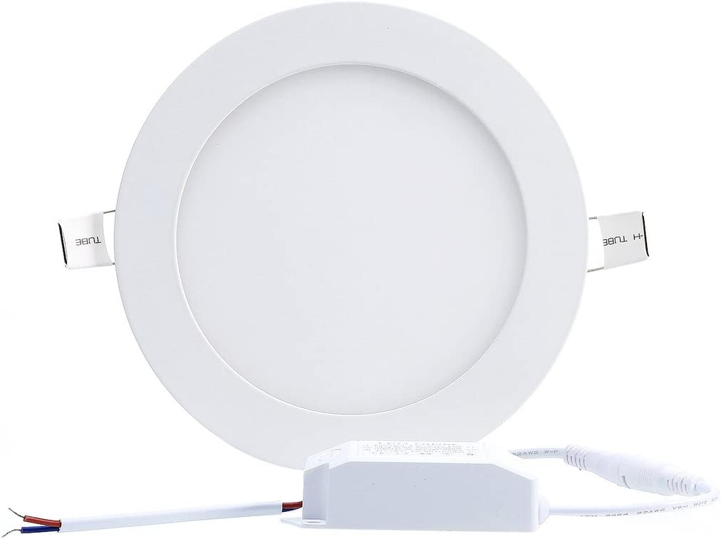 Mall Aolyty 18W Ultra Thin LED Ceiling Panel Light 8 Recessed Square Downlight for Home Office Low Energy Consumption Non Dimmable 6000K