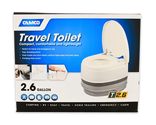 Camco 41535 Premium Portable Travel Toilet Three Directional Flush Swivel Dumping Elbow, Designed Camping, RV, Boating Other Recreational Activities (2.6 gallon) by Camco (Image #19)