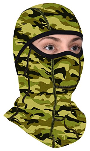 Camouflage Balaclava Tactical Mask - All Season Full Face Protector - Best For Summer and Winter Women and Men + FREE Gift! ...