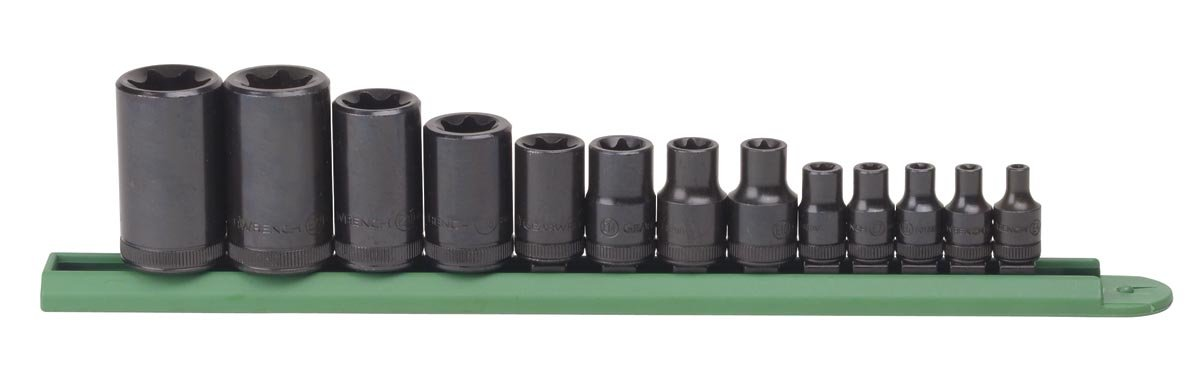 GEARWRENCH 13 Pc. 1/4'', 3/8'' & 1/2'' Drive External Torx Socket Set - 80583 by GearWrench