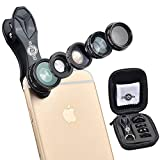ClipityPix 5 in 1 Cell Phone Camera Lens Kit for iPhone 7/6/5, Samsung S7/S7 ...