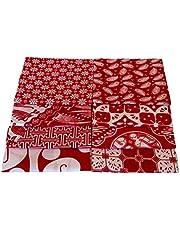 "ALIKHA Indonesian Batik PRECUT Quilting Fabric Bundle 20x20"", 100% Cotton, Assorted, Indonesian Batik Traditional Motif, Sewing Crafting Fabric"