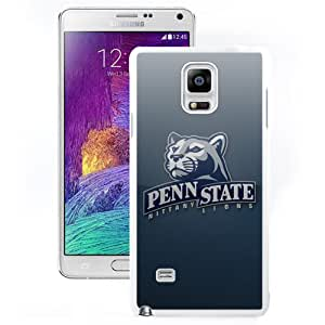 Fashionable And Unique Custom Designed With Ncaa Big Ten Conference Football Penn State Nittany Lions 9 Protective Cell Phone Hardshell Cover Case For Samsung Galaxy Note 4 N910A N910T N910P N910V N910R4 White