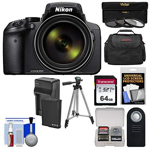 Nikon Coolpix P900 Wi-Fi 83x Zoom Digital Camera + 64GB Card + Battery & Charger + 3 Filters + Case + Tripod Kit (Renewed) (P530 Nikon Coolpix Camera)
