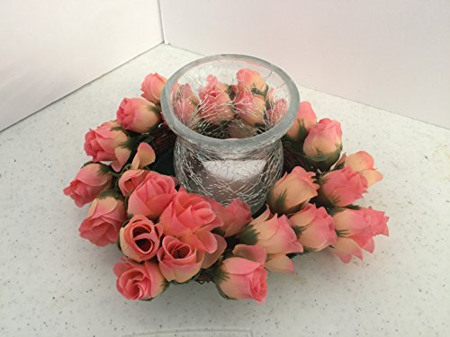 ement- Cracked Glass - Mini Peach Roses ()