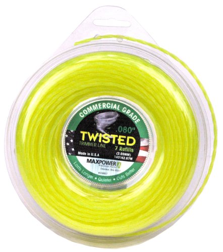 - Maxpower 338807 Premium Twisted Trimmer Line .080-Inch Twisted Trimmer Line 140-Foot Length
