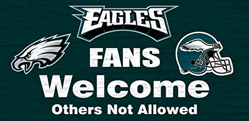 - Philadelphia Eagles Wood Sign - Fans Welcome 12