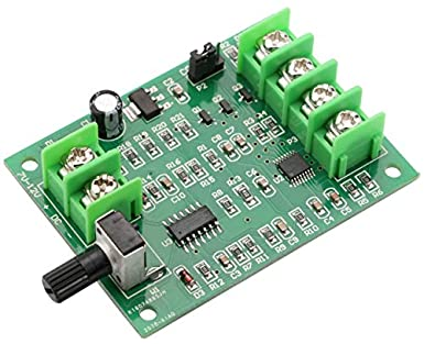 DC Brushless Motor Controller, Yeeco DC 7 12V Brushless DC Motor Speed Regulator Control Module High Power BLDC Speed Motor Controller Driver Board
