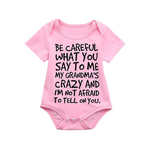 XoiuSyi Baby Girls Boys Multicolor Letter Print Romper Toddler Cute Cotton Cozy ()