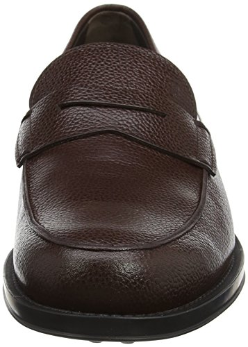 Tods Shoes Mini Lama Print, Mocassini Uomo Brown (Caffe)