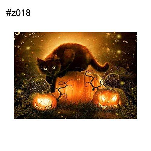 Brave669 Halloween Spooky Pumpkin Skull Witch Partial Diamond Painting DIY Cross Stitch z018]()