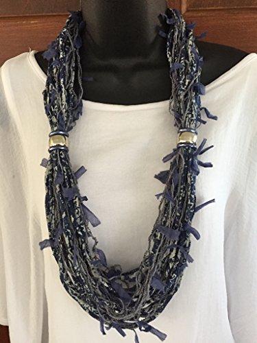 navy-gray-upcycled-t-shirt-necklace-neckscarf-denum-jean-accessory-fashion-trendy-stranded-handmade-