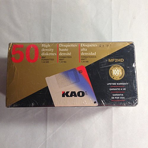 KAO 3.5'' Diskettes, MF2HD, IBM Formatted, 50 Pack