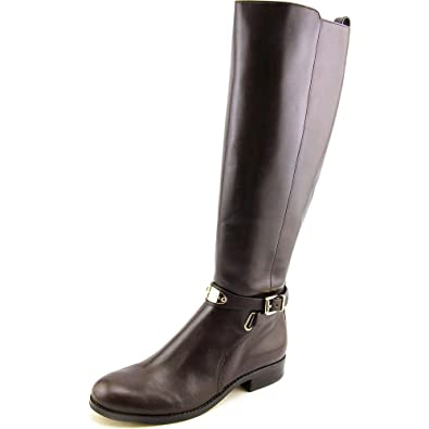 41be359399b2 Michael Kors Arley Riding Dark Chocolate Wide Calf Boot (11)