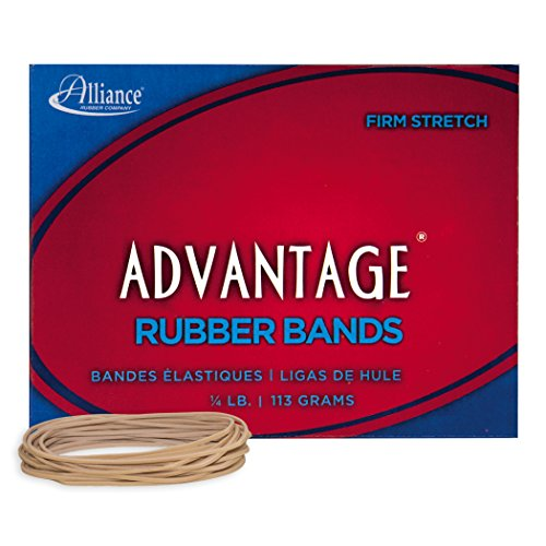 Alliance Rubber 26199 Advantage Rubber Bands Size #19, 1/4 lb Box Contains Approx. 312 Bands (3 1/2 x 1/16, Natural Crepe)