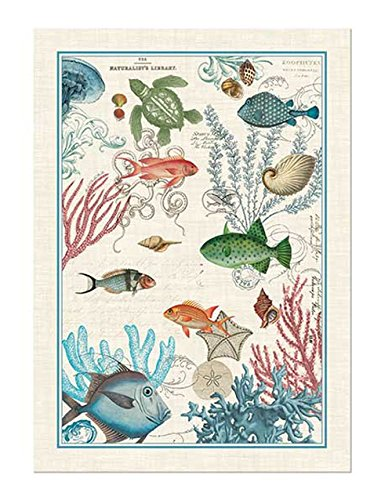 Superbe Michel Design Works Sea Life Cotton Kitchen Towel, Multicolor