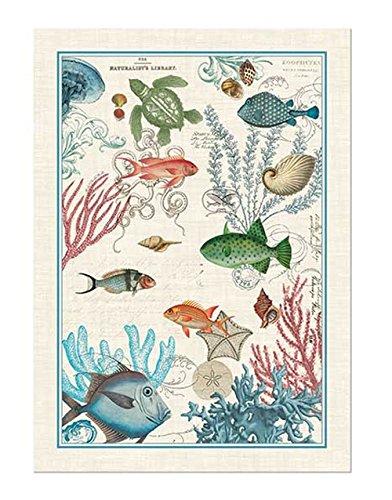 Michel Design Works Sea Life Cotton Kitchen Towel, Multicolor