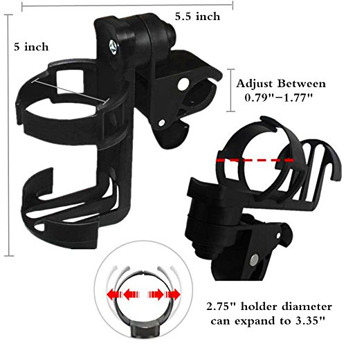 Stroller Drink Holder Normei Universal Stroller Cup Holder 360°Adjustable For Stroller Wheelchair Bike Bicycle Water Bottle Holder Rack Cagediameter Only Fit Diameter Less Than 2.36""