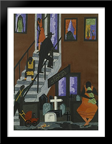 Tombstones 28x38 Large Black Wood Framed Print Art for sale  Delivered anywhere in Canada
