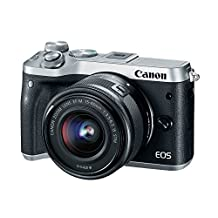 Canon EOS M6 15-45 Silver EF-M 15-45mm f/3.5-6.3 IS STM Lens Kit