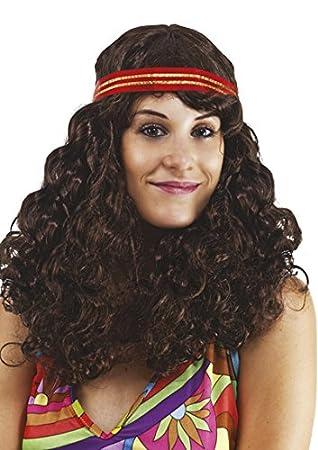 Ptit Clown P tit payaso – 76740 – Peluca hippie mujer – Frisée marrón con