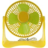 WinnerEco 1pc Portable USB Powered Super Mute Electric Desk Cooling Fan for Table Room Office Electric Portable Mini fan (Yellow)