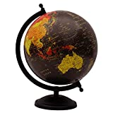Desktop Rotating Black Ocean Globe World Earth Geography Gift Table Décor 11''