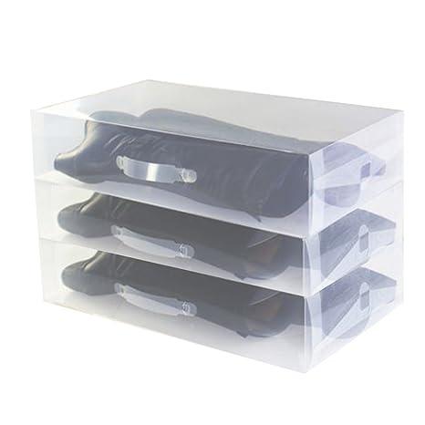 3 x Cajas para Botas Plegables de Plástico Uuhome, 52 x 30 x 11.5cm