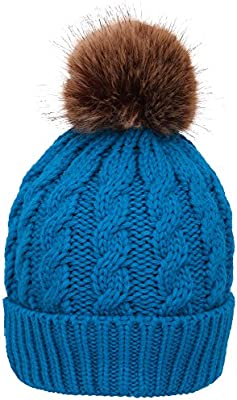 c5e1ef048 Simplicity Men/Women's Winter Hand Knit Faux Fur Pompoms Beanie Hat ...