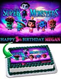 Super Monsters Edible Image Cake Topper Personalized Icing Sugar Paper A4 Sheet Edible Frosting Photo Cake 1/4 ~ Best Quality Edible Image for cake