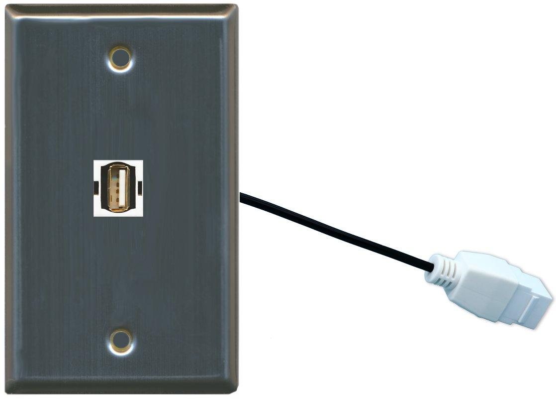 RiteAV RiteAV USB壁プレートW ( ( 1ギャングフラット) USB壁プレートW/ピグテール延長ケーブルステンレススチール B01CYSTD0S, ウィッグの専門店ウィッグランド:947e1703 --- gamenavi.club