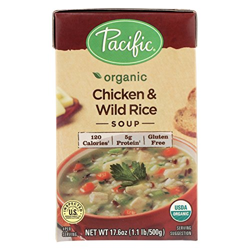 Pacific Natural Foods Soup - Chicken and Wild Rice - Case of 12 - 17.6 oz. by Pacific Natural Foods