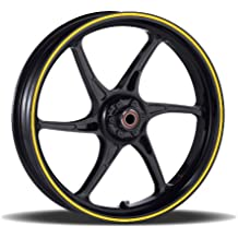 16 to 19 inch Motorcycle, Scooter, Car & Truck Wheel Rim Trim Tape Stripes Yellow Size 0 - 1/8inch or 3mm wide
