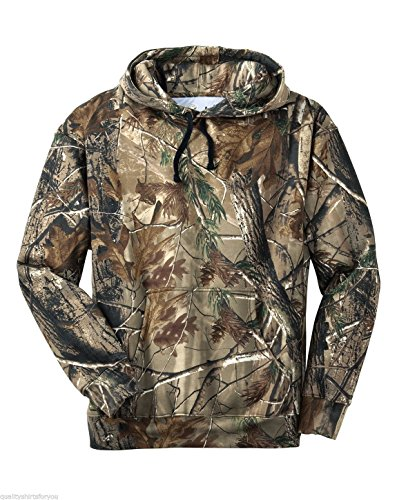 Russell Outdoors Mens Hoodie Realtree AP Camo Hunting Sweatshirt (Small)