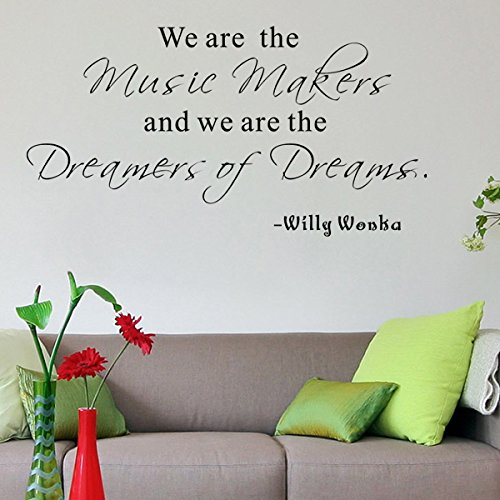 Pop Decors ''We are the music makers-Willy Wonka'' Wall Stickers
