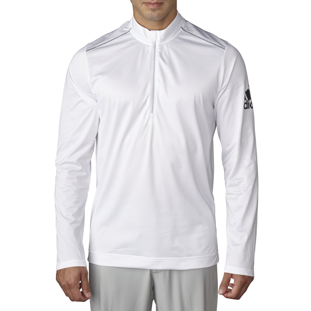 adidas Golf Men's Climawarm Classic Half Zip Jacket, White, X-Large