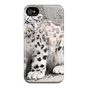 Hot Tpye Amaing White Leopard Case Cover For Iphone 4/4s