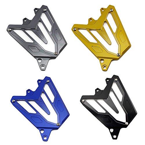 FATExpress Motorcycle Billet CNC Aluminum Front Chain Guard Sprocket Engine Cover for 2013-2016 Yamaha FZ MT 07 FZ-07 MT-07 FZ07 MT07 2014 2015 13-16 (Black)
