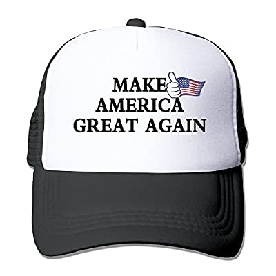 Mens Make America Great Again Mesh Back Baseball Cap Trucker Hats Black