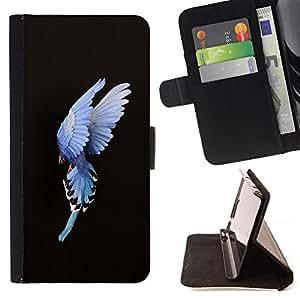 - bird feathers meaning inspirational - - Prima caja de la PU billetera de cuero con ranuras para tarjetas, efectivo desmontable correa para l Funny HouseFOR Samsung Galaxy S5 Mini, SM-G800