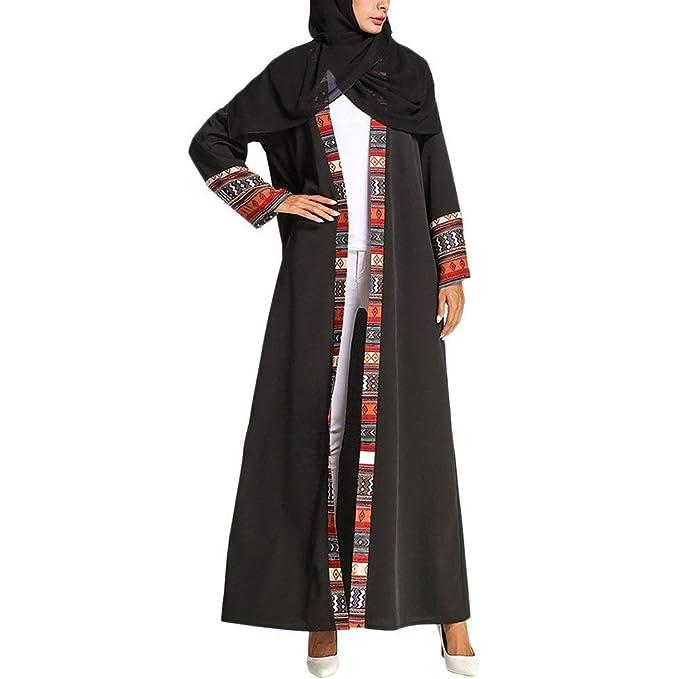 Phelion Vestidos Maxi Musulmanes árabes del Traje de Noche de los Vestidos islámicos de Las Batas de los Rebeca islámicos: Amazon.es: Ropa y accesorios