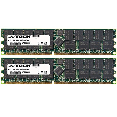 4GB KIT (2 x 2GB) for HP-Compaq Workstation Series xw9300. DIMM DDR ECC Registered PC3200 400MHz Single Rank RAM Memory. Genuine A-Tech Brand.