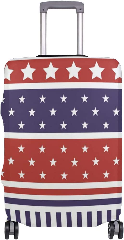 Cute 3D USA Flag Pattern Luggage Protector Travel Luggage Cover Trolley Case Protective Cover Fits 18-32 Inch