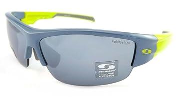 Sunwise Parade - Gafas de sol polarizadas de color gris y verde con lente de polarfusión