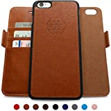 Dreem iPhone 6 PLUS /6s PLUS Wallet Case with Detachable SlimCase, Fibonacci Luxury Series, Vegan Leather, RFID Protection, 2-Way Stand, Gift Box - Caramel Brown