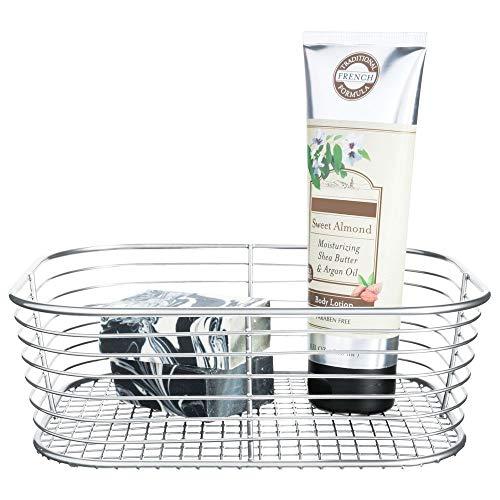 InterDesign Vienna Vanity Basket for Cosmetics and Makeup Storage, Bathroom, Countertop, and Desk, Small,