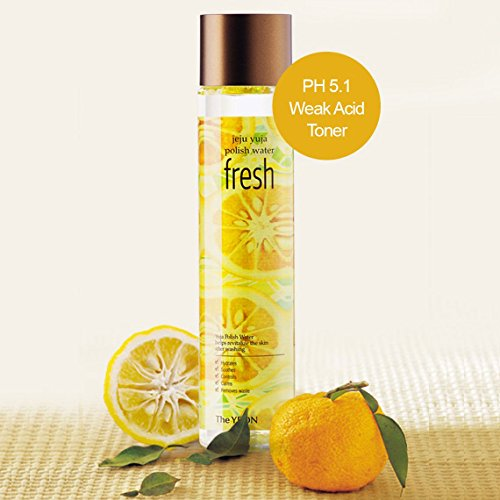 Korean Skin Care - The YEON Low PH Jeju Yuja Polish Water Fresh 270 ml [with Mist Container]