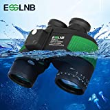 ESSLNB Marine Binoculars with Night Vision Compass Rangefinder 7X50 IPX7 100% Waterproof Military Binoculars for Adults Kids BAK4 FMC Floating Binoculars for Boating Hunting w/Bag and Floating Strap